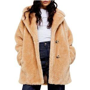 NWT Topshop Faux Fur Coat